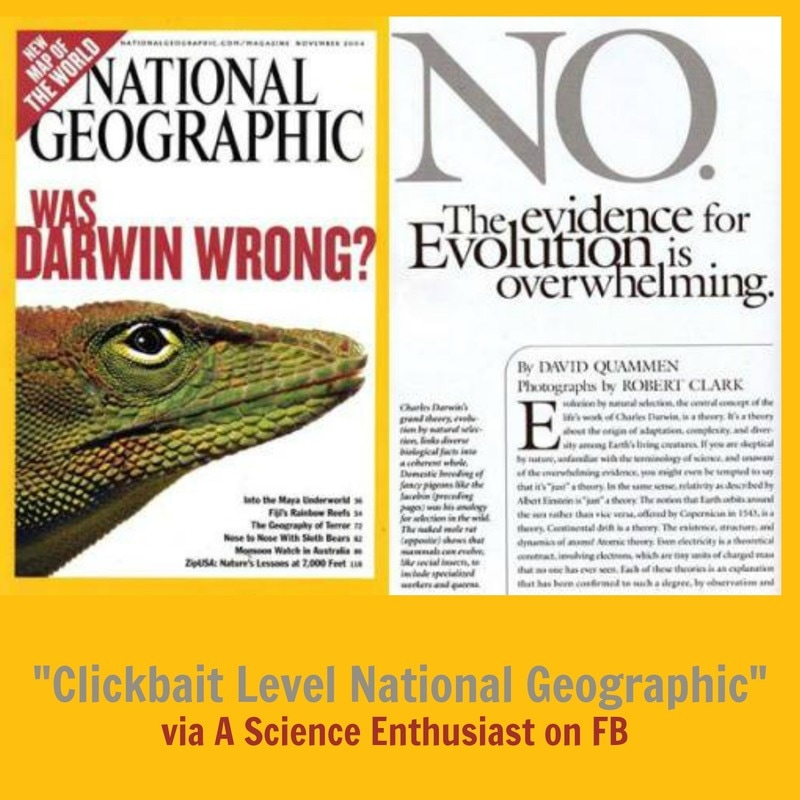 National Geographic clickbait - A Science Enthusiast