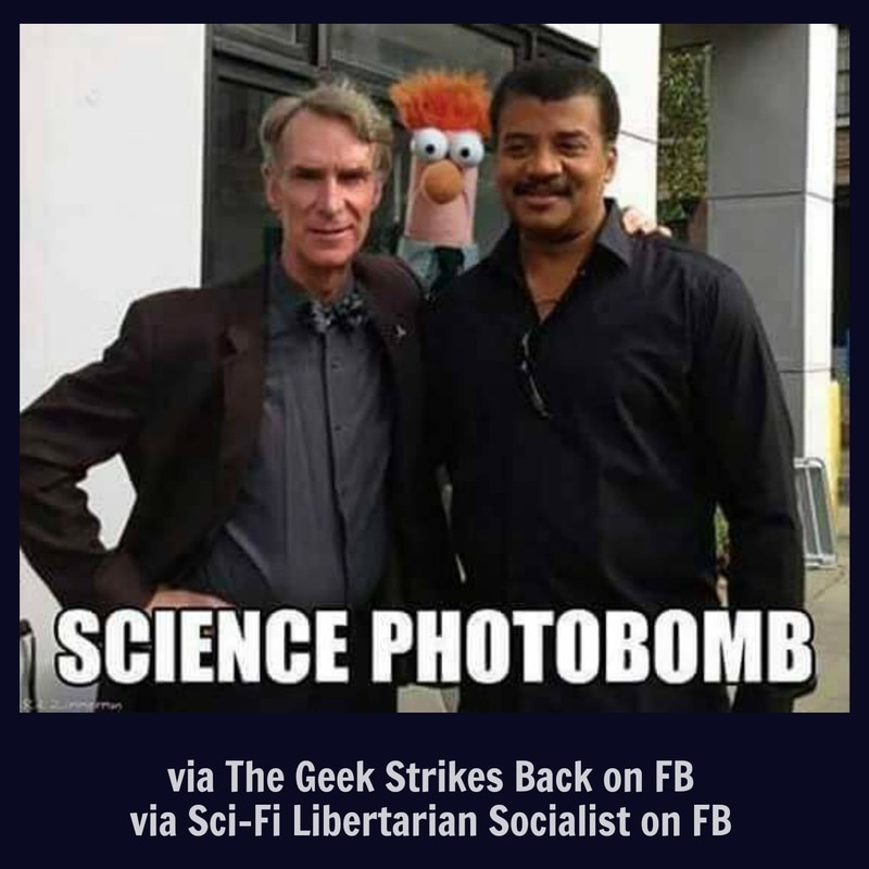 The Geek Strikes Back - Science Photobomb